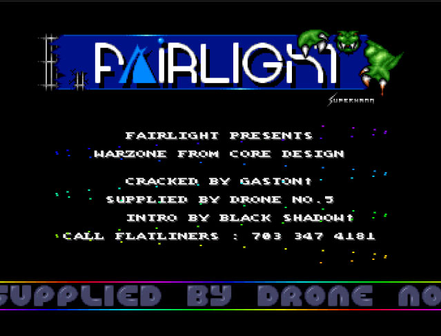 Cracktro Remake - Fairlight - Warzone